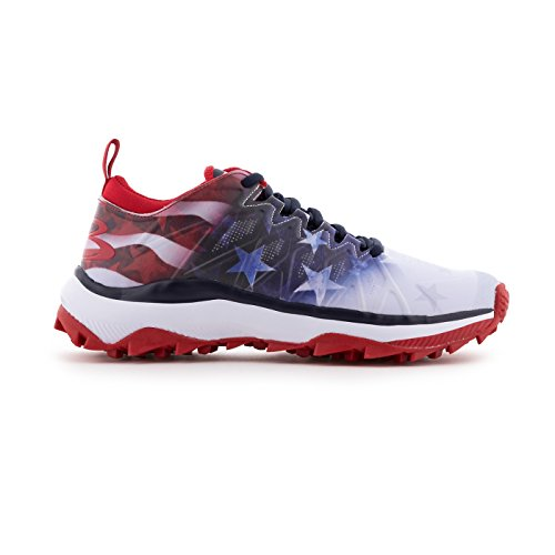 Boombah Women's Squadron Flag Turf Shoes Royal Blue/Red/White - Size - Shoes Softball Turf