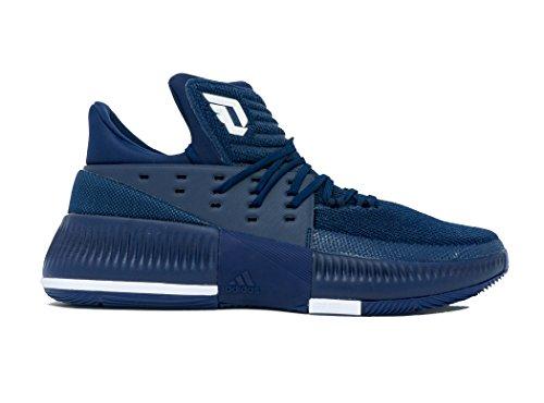 Adidas Dame 3 Nba / De Los Hombres Del Zapato De Baloncesto De La Ncaa Azul Marino Oscuro Blanco-negro-core Nicekicks Venta en línea Opción de venta Barato Venta a bajo precio VzBhbqt8X