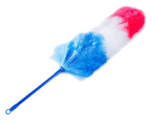 Kitchen + Home Large 27 inch Static Duster - Electrostatic Feather Duster Attracts dust Like a Magnet! - Patriot