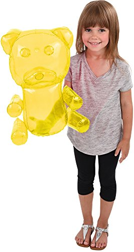 Block Buster Costumes Delicious Candy Large Yellow Gummy Bear Animal Inflatable 18