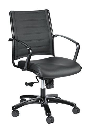 Eurotech Seating Europa Titanium LE222TNM-BLKL Mid Back Chair, Black