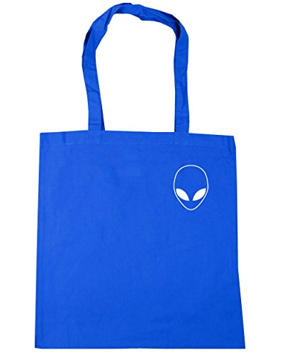 10 Blue litres Beach pocket 42cm HippoWarehouse Alien Tote Gym Shopping Bag Cornflower x38cm head vEEZOqwx1