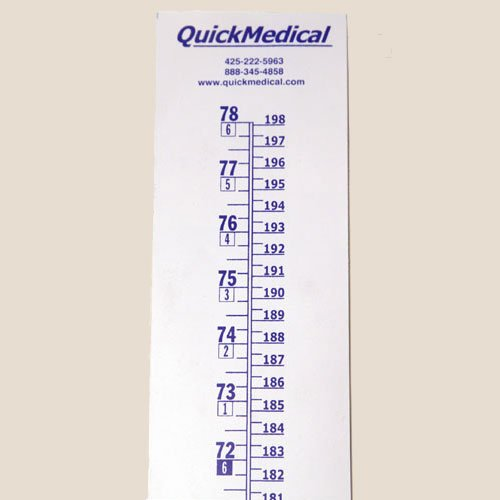 (QuickMedical QM338 Wall Growth Chart, Height Chart Only)