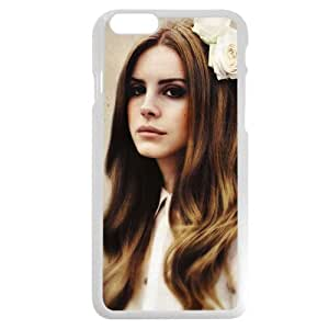UniqueBox - Customized Personalized White Hard Plastic iPhone 6 4.7 Case, American Famous Singer Lana Del Rey iPhone 6 case, Only fit iPhone 6(4.7 Inch)
