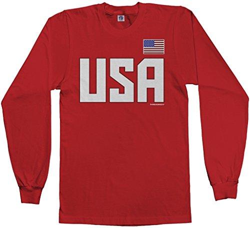 Threadrock Men's USA National Pride Long Sleeve T-shirt L (Pride Long Sleeve Tee)