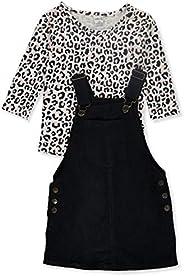 Wallflower Girls' Leopard 2-Piece Skirtalls Set Ou