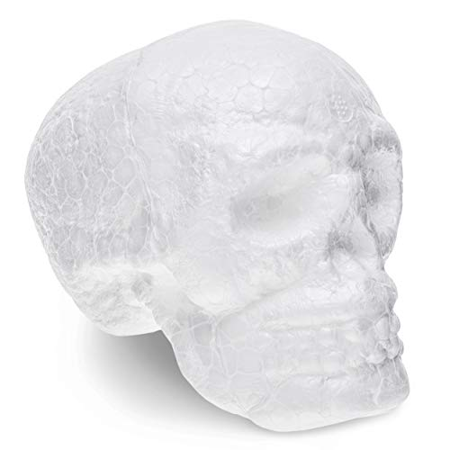 Juvale Foam Skulls 6-Pack for Day of The Dead, Halloween Arts and Crafts (Polystyrene, 4 -