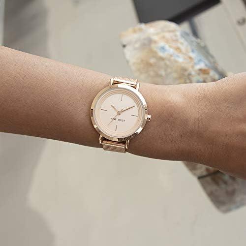 Nine West Women's Gold-Tone Mesh Bracelet Watch WeeklyReviewer
