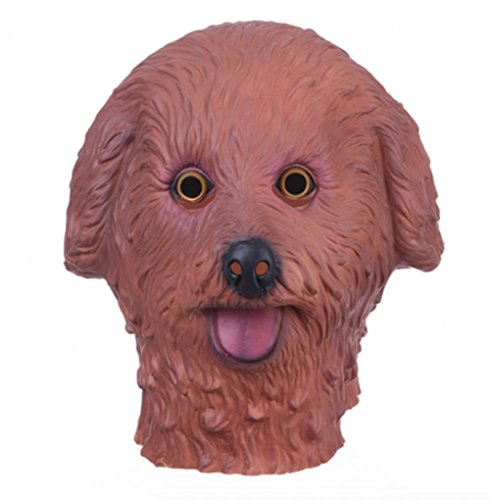 El Wire Stick Figure Costume (Halloween Masks Animal Dog Latex Mask Full Face (Brown))