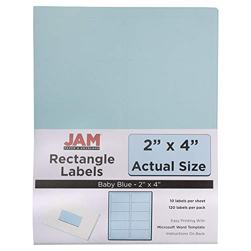- JAM PAPER Shipping Address Labels - Standard Mailing - 2 x 4 - Baby Blue - 120/Pack