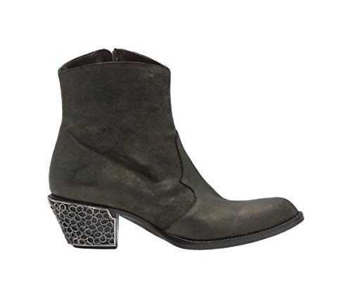 Giancarlo Paoli New Pearl Kaki Leather Westen Cut Ankle Boot Pearl Kaki AWfo8a