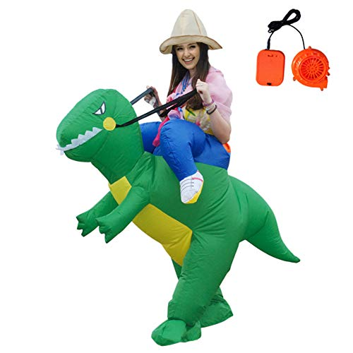 (Inflatable Dinosaur T-Rex Costume Fancy Riding Costumes for Christmas/Halloween/Birthday Party Dress)