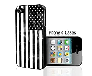 USA black and white Flag iPhone 6 4.7 case