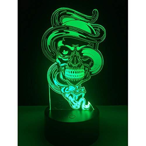 7 farbige 3D-Nachtlicht-LED Halloween changing atmosphere night light desk bedroom home decoration children kids toys…