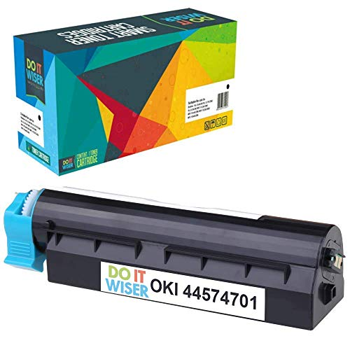 Do it Wiser Compatible Toner Cartridge for Oki B411d B411dn B431d B431dn MB461 MB471 MF491- Okidata 44574701 (4,000 Pages, Black) -