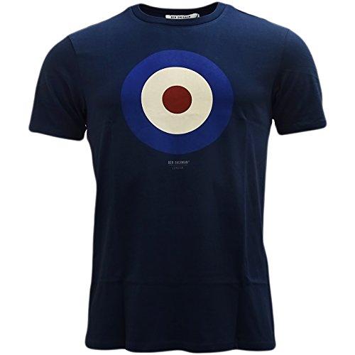Ben Sherman Men's Short Sleeve Target Crew Neck T-Shirt, Navy, XX-Large