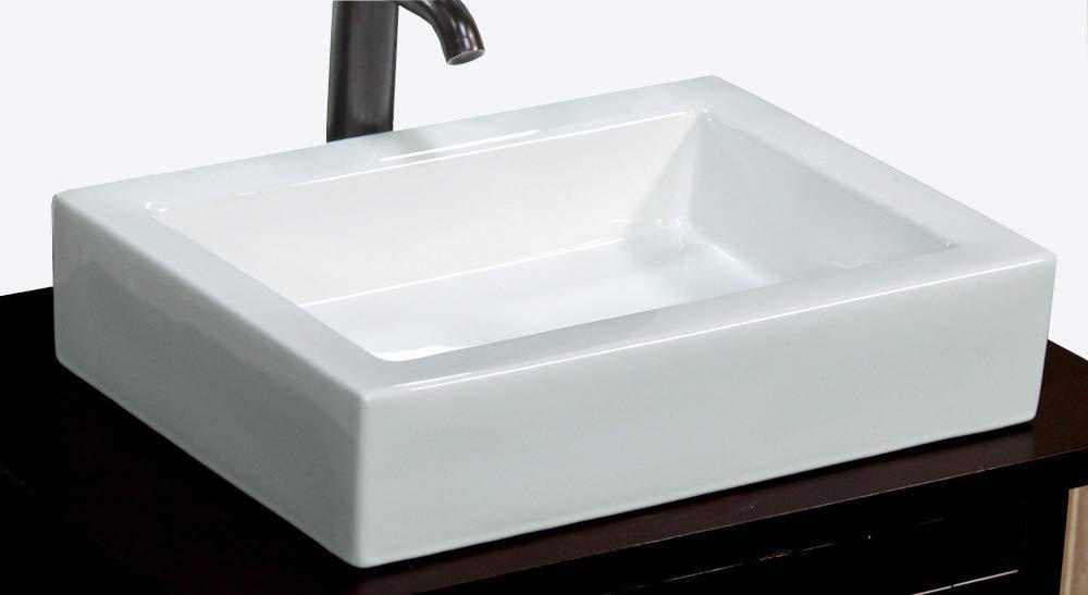 Bathroom Rectangular Ceramic Porcelain Vessel Vanity Sink 7241 free Pop Up Drain with no overflow