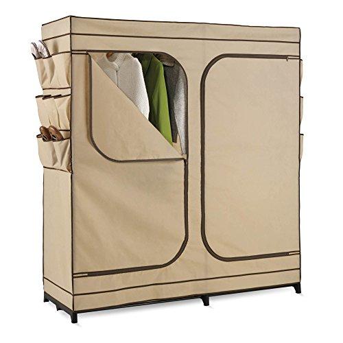 Honey-Can-Do WRD-01272 Double Door Storage Closet with Shoe Organizer, 60-Inch