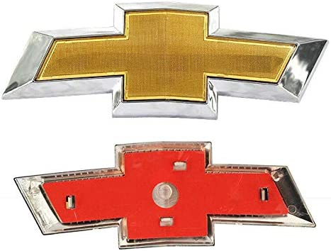 Poiuy Front Bumper Emblem for Chevy Cruze,Gold Grille Badge Bumper Logo for 2011-2014 Chevy Cruze