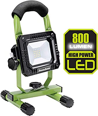 PowerSmith PWLR108S 800 Lumen Rechargeable LED Work Light, Small, Green