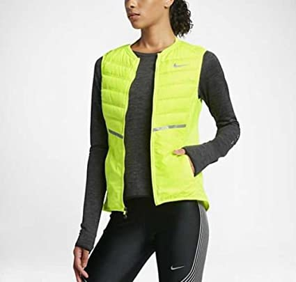 3c730923250cf Image Unavailable. Image not available for. Color: Nike AeroLoft Women's  Running Vest Packable Volt ...