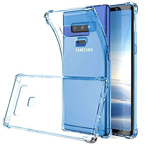 Cover Blue Protector Case (Galaxy Note 9 Case, Note 9 Case Clear, SKTGSLAMY Soft TPU Case Crystal Transparent Slim Anti Slip Case Back Protector Case Cover for Samsung Galaxy Note 9 (Blue))