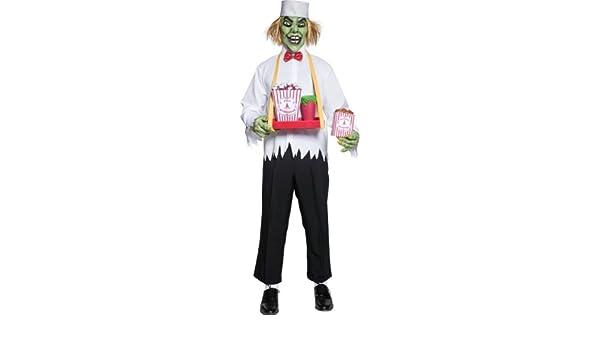 Disfraz Siniestro Vendedor de Palomitas para Hombre: Amazon.es ...
