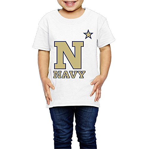 GUC Kid's T-shirts Girls&Boys - United States Naval Academy White 2 Toddler