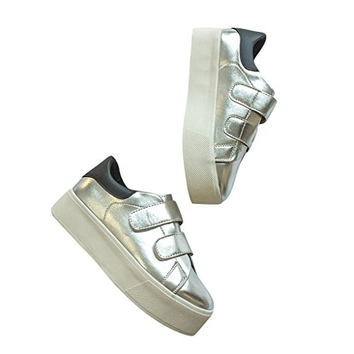 Creepers Gold Silver Platform Women Loafers By Dear Time Silver FEuDCPm