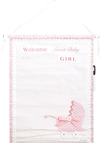 Transpac canvas Baby Girl Auotographable Banner by Transpac