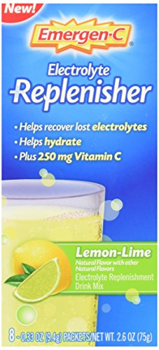 Emergen-C Replenisher (8 Count, Lemon-Lime Flavor) Electrolyte Replenishment Drink Mix with 250mg Vitamin C, 0.33 Ounce Packets (Electrolyte Replenisher)