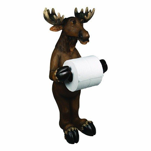Rivers Edge Products Moose Standing Toilet Paper Holder