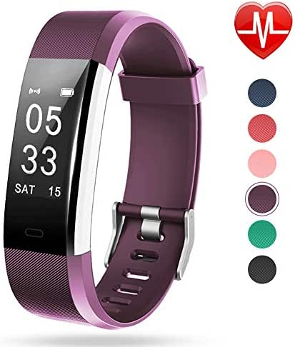 Lintelek Fitness Tracker with Heart Rate Monitor, Activity Tracker with Connected GPS, IP67 Waterproof Smart Fitness Band with Step Counter, Calorie Counter, Pedometer for Kids Women and Men