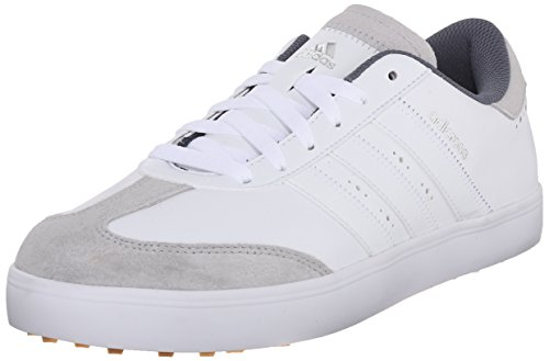 adidas Men's Adicross V WD Golf Shoe, White/White/Gum, 10 W US