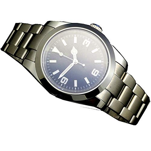 Parnis Stainless Steel Luminous Automatic Sapphire Crystal Men's Wristwatch Stainless Bracelet