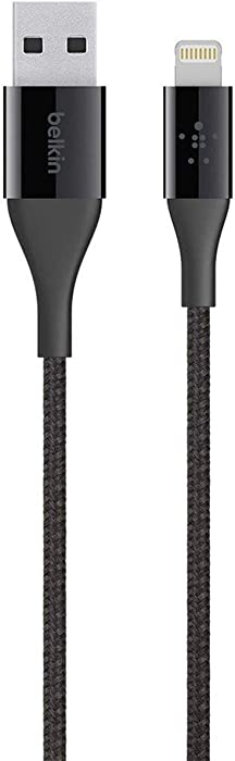 Belkin MIXIT DuraTek Lightning to USB Cable - MFi-Certified iPhone Charging Cable for iPhone XS, XS Max, XR, X, 8/8 Plus and more (4ft/1.2m), Black (F8J207BT04-BLK)