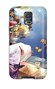 High-end Case Cover Protector For Galaxy S5(geisha Anime)