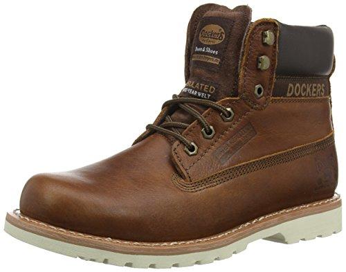 Dockers by Gerli 33CR001 - Botas de cuero para hombre marrón - Braun (dunkelbraun 380)