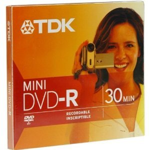 TDK 1.4GB Mini DVD-R Disc for Camcorder (Discontinued by Manufacturer) 1.4 Gb Dvd Media