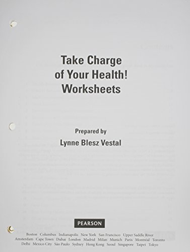 Take Charge of Your Health Worksheets (11th Edition)