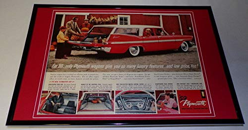(1959 Plymouth Wagon Framed 11x17 ORIGINAL Vintage Advertising Poster)