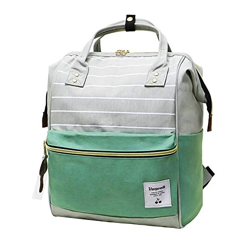 RLANDTO Casual Travel Backpack, Diaper Bag Laptop Daypack School Backpack for Women & Girls, with Wide Doctor Style Top Opening
