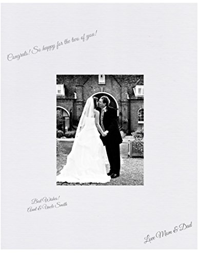 Wedding Autograph Photo Frame - Pack of 5 16x20 White Signature and Autograph Picture Mat for 8x10 picture. Weddings, Baby Showers, Reunions