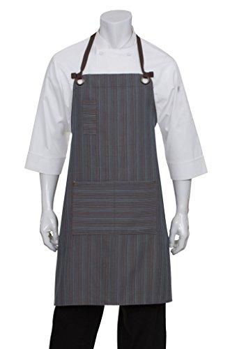 - Chef Works Unisex Brooklyn Bib Apron, Blue/Chocolate, One Size