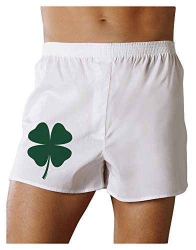 (TooLoud Lucky Four Leaf Clover St Patricks Day Boxers Shorts - White -)