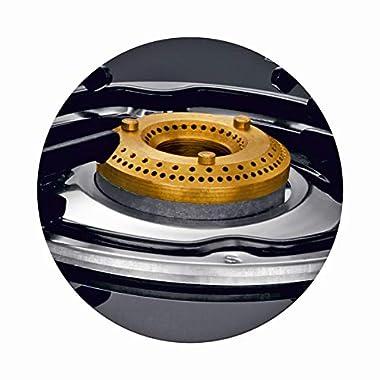 Preethi - GTS124 Zeal Glass Top 3 Burner Gas Stove, Manual Ignition, Black 10