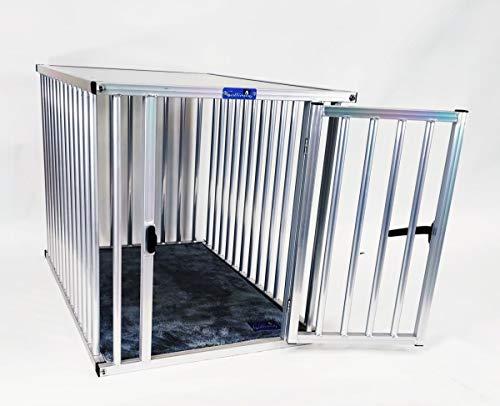 Callieway® ALU DOGBOX/Hundebox/ALU Hundkäfig für Büro und Daheim (nur vertikale Stäbe)