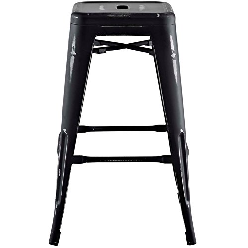 Modern Urban Industrial Distressed Antique Vintage Counter Stool Chair ( Set of 2), Black, Metal by America Luxury - Stools (Image #3)