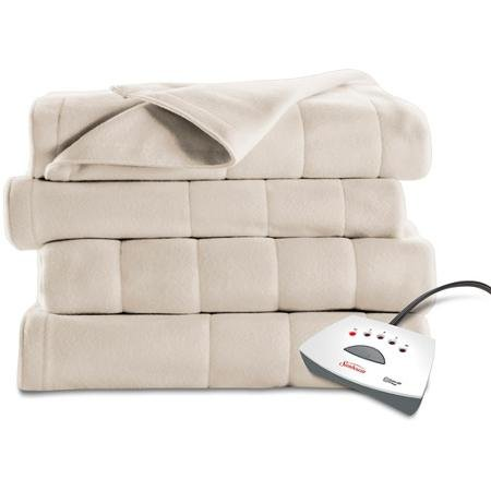 Sunbeam Heated Quilted Fleece Electric Blanket - Extra Soft - TWIN - Seashell Mr Bar B Q Inc BSF9LTS-R757-22