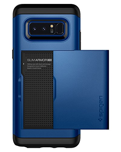 Spigen Slim Armor CS Galaxy Note 8 Case with Slim Dual Layer Wallet Design and Card Slot Holder for Galaxy Note 8 (2017) - Deep Sea Blue